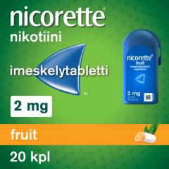 NICORETTE FRUIT 2 mg imeskelytabl 20 kpl
